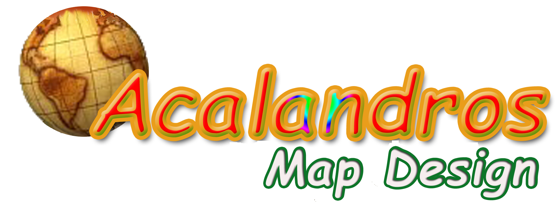 Logo Acalandros Map Design